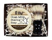 O My! Vanilla Dreams Goat Milk Shaving Soap & Brush Gift Pack