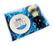 O My! Unscented Goat Milk Shaving Soap & Brush Gift Pack