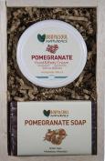 Anti-Oxidant Pomegranate Gift Set - Pomegranate Hand and Body Lotion + 2 Natural Pomegranate Soaps