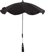 Baby's Clan Black Cotton Parasol For Buggy Adjustable/Detachable
