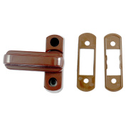Window Lock - Sash Jammer - Brown