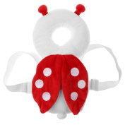 Baby Head Protection Pad Toddler Headrest Pillow Baby Neck Cute Wings Nursing Drop Resistance Cushion - Ladybug