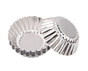 20 Pcs Thicken Reusable Egg Tart Aluminium Mould Cupcake Cake Cookie Foil Cups Round Bake Muffin Tin Mould