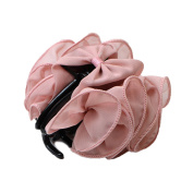 Bgoodgirl Women's Rose Flower Bow Hair Clip Floral Hair Jaw Claw Clip Accessories Pink