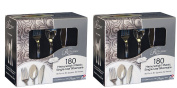 """Reflections Heavyweight """"Looks Like Silver"""" Disposable Flatware 360 Pieces"""