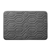 Bounce Comfort Extra Thick Memory Foam Bath Mat - Turtle Shell Premium Micro Plush Mat with BounceComfort Technology, 43cm x 60cm . Dark Grey