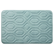 Bounce Comfort Extra Thick Memory Foam Bath Mat - Turtle Shell Premium Micro Plush Mat with BounceComfort Technology, 50cm x 80cm . Aqua