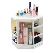 Bestwoohome Plastic Rotating Makeup Organiser Cosmetic Storage Box