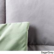 Cheer Collection Reversible All Season Luxurious Down Alternative Hypoallergenic Sage/Grey Comforter, King