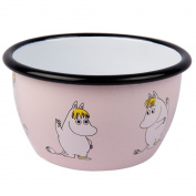 """Muurla 6 dl Enamelled Steel """"Snork Maiden"""" Moomin Bowl, Pink"""