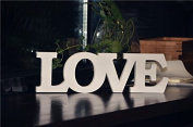 """""""LOVE"""" Wooden Words Letters Wedding Decoration / Present Table Decor In Cream, White"""