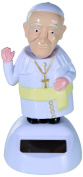 Out of the Blue 57/9751 Moveable, Pope Francis on Plastic Base with Solar Figure Approx. 11 cm