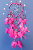 DREAM CATCHER PINK HEART DREAMCATCHER SILVER WEB