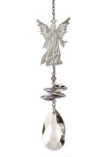 Angel Robed Rainbow Making Hanging Window Crystal Suncatcher on Chain - Free Organza Bag & Postage!
