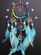 DREAMCATCHER RAINBOW silver web DREAM CATCHER (SH) MORE COLOURS AVAILABLE