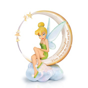 Tinker Bell 'I Love You To The Moon And Back' Figurine By The Bradford Exchange
