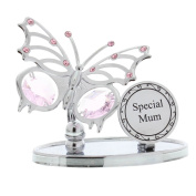 Crystocraft 'Special Mum' Elements Butterfly Design Mum Gift