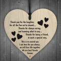 Best Friends Forever Wooden Hanging Heart