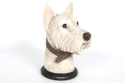 West Highland Terrier Head Statue ornament 19 x 14 x 10cm