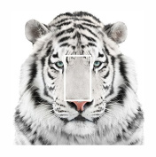 Sticar-it Ltd Beautiful White Siberian Tiger Light Switch Sticker vinyl cover skin decal For any Room