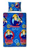 "Character World Single ""Fireman Sam Workshop"" Duvet Set"