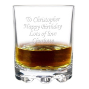 Personalised Stern Whisky Glass - A Lovely Gift For 40th Birthday, 50th Birthday, 80th Birthday, 30th Birthday - Personalised For Free