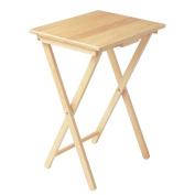 Home Vida Folding Snack Table, Wood, Natural