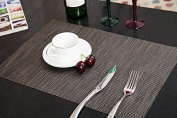 Addfun®Table Mats Set of 6,New PVC Insulation Non-slip Insulation Washable Placemats Brown