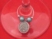 Aquarius Zodiac Sign Wine Glass Charm by Libby's Market Place
