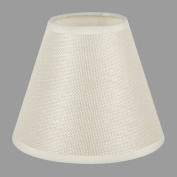 ONEPRE Clip On Chandelier Lamp Shades, Hardback Candle Linen Lampshade,Off White,15cm