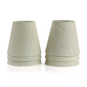 Fuloon Set of 6 LampShades for Candle Crystal Chandelier Wall Lamp Droplight Fabric Lamp Shade