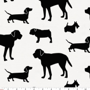 Carousel Designs Onyx Dogs Fabric by the Yard