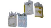 Flomo 12PC XL Love Bliss Dove Wedding Gift Bag-Glitter On Matte