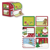 60 Jumbo Self Adhesive Christmas Gift Labels in Easy To Use Roll Just Pull & Place - Juvenile