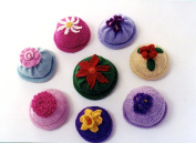 Kid's Flower Caps - Ann Norling Knitting or Crochet Pattern #22 - 6 months