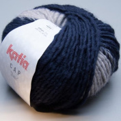 Katia Cap Basic Hat & Scarf Knitting & Crochet Yarn Denim Blue/Grey 52 - per 80gm ball