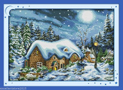 in winter DIY Embroidery Kit Precise Printed Needlework Cross stitch