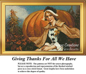 Thanksgiving Cross Stitch Patterns | Giving Thanks For All We Have