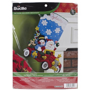 Holiday Drive Stocking Felt Applique Kit-46cm Long by Bucilla