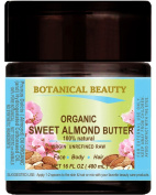 SWEET ALMOND OIL - BUTTER ORGANIC 100 % Natural / VIRGIN / UNREFINED / RAW. 16 Fl.oz.- 480 ml. For Skin, Hair and Nail Care.