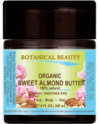 SWEET ALMOND OIL - BUTTER ORGANIC 100 % Natural / VIRGIN / UNREFINED / RAW. 8 Fl.oz.- 240 ml. For Skin, Hair and Nail Care.