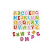 26pcs Wood Alphabet Puzzle , Misaky English Letters Jigsaw Educational Toy