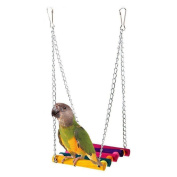 Pet Bird Swing Toy, Misaky Parrot Parakeet Budgie Cockatiel Cage Hammock Hanging Toy