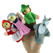 4PCS Finger Puppets, Misaky Little Red Riding Hood Christmas Gifts Baby Educational Toy