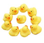 Singleluci,One Dozen (12) Rubber Duck Ducky Baby Shower Toy Birthday Favours