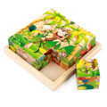 Ehdching 3D Wooden Preschool Educational Cube Block Jigsaw Puzzles with 6 Patterns for  .    .   Old and Up Toddler