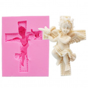 WYD 3D Baby Angel Fondant Cake Mould,Handmade Soap Mould,Cake Mould Decorating