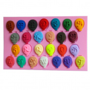 WYD Lovely English Alphabet Balloon Fondant Silicone Mould,Handmade Soap Mould,Cake Mould Decorating,Fondant Baking Mould