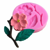 WYD Flowers and Leaves Set Fondant Mermaid Silicone Mould,Handmade Soap Mould,Cake Mould Decorating,Fondant Baking Mould
