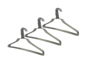30 Pack 41cm Strong Steel Metal Wire Hangers Adult Clothes Hangers - 13 Gauge Thickness Silver Colour Galvanised Metal Wire Hanger